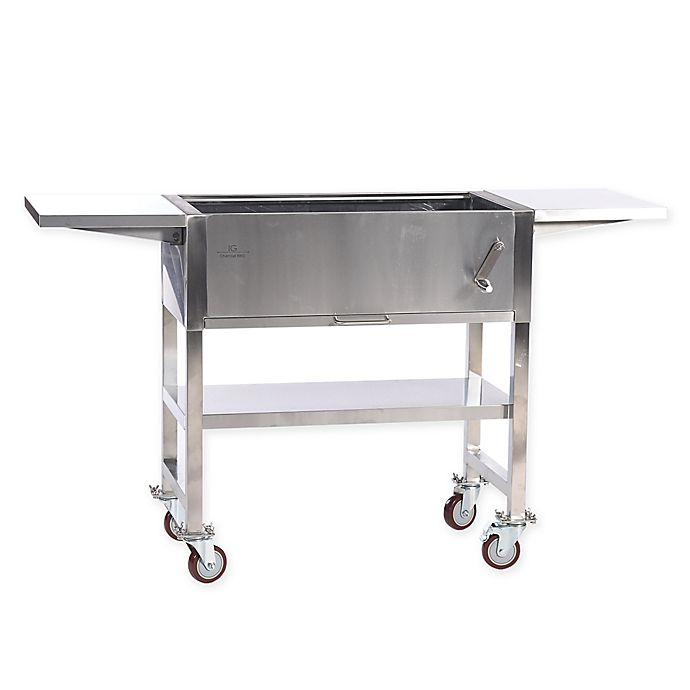 Alternate image 1 for IG Charcoal Barbecue Grill in Stainless Steel