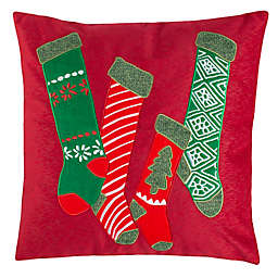 Safavieh Jovie Square Throw Pillow in Green/Red