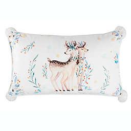 Safavieh Nutmeg Oblong Throw Pillow in White/Brown