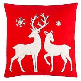 Safavieh Mitzi Square Throw Pillow in Red/White
