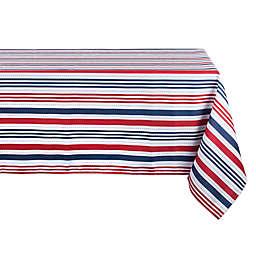 Design Imports Patriotic Stripe Indoor/Outdoor Tablecloth