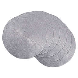 Design Imports Round Woven Placemats