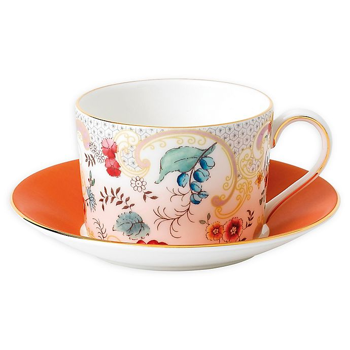 Wedgwood Wonderlust Teacup /& Saucer Set Camellia