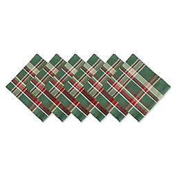 Design Imports Plaid Napkins (Set of 6)