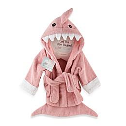 Baby Apsen Let the Fin Begin Shark Bathrobe in Pink