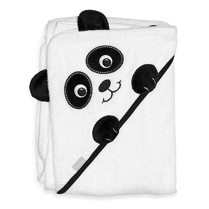 Alternate image 1 for Frenchie Mini Couture Extra-Large Panda Face Hooded Towel