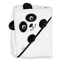 Frenchie Mini Couture Extra-Large Panda Face Hooded Towel