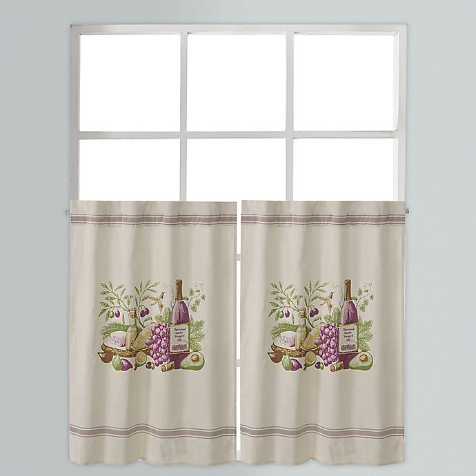 Alternate image 1 for Provence 36-Inch Window Curtain Tier Pair