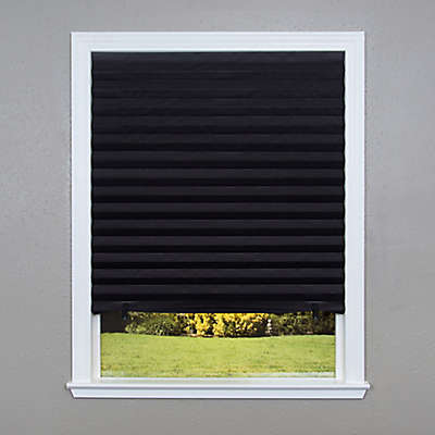 Redi Shade Cordless Paper Blackout Window Shade in Black