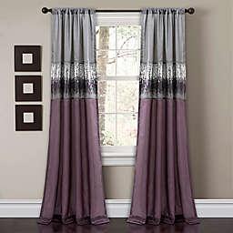 Night Sky 84-Inch Rod Pocket Window Curtain Panel in Purple (Single)