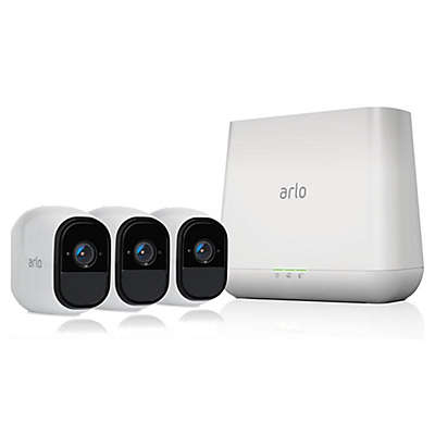 Arlo® VMS4330100NAS Pro Smart Security System with 3 Cameras and Audio in White