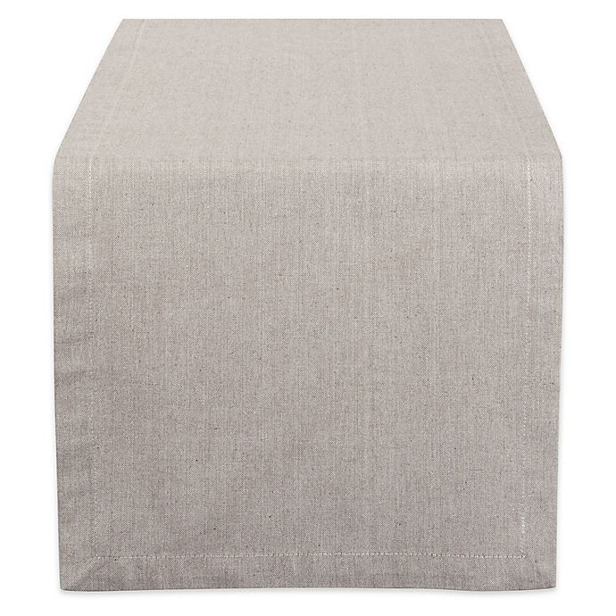 Alternate image 1 for Design Imports Chambray 108-Inch Table Runner in Stone