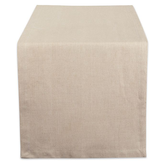 Alternate image 1 for Design Imports Chambray 108-Inch Table Runner in Natural