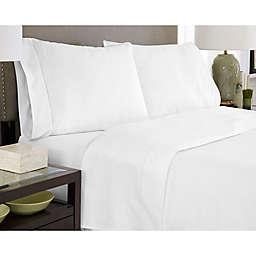 Pointehaven 450-Thread-Count Dobby California King Sheet Set in White