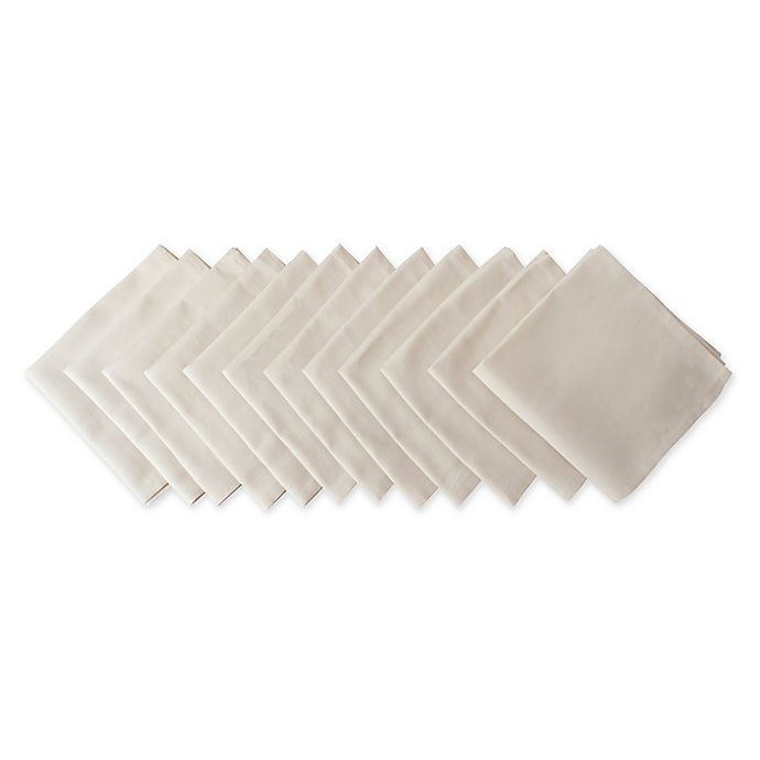 Alternate image 1 for Design Imports Buffet Napkins in Cream (Set of 12)
