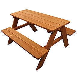 Homeware Wood Kids Picnic Table in Brown