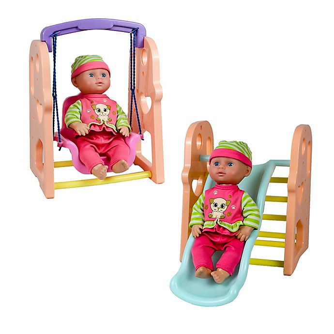 Alternate image 1 for Kid Concepts My First Playground 2-in-1 Doll Playset