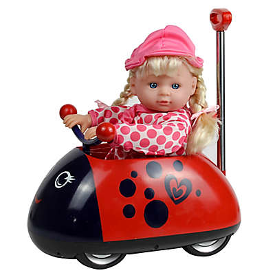 Kid Concepts My First Ladybug Ride-On with Telescopic Handle