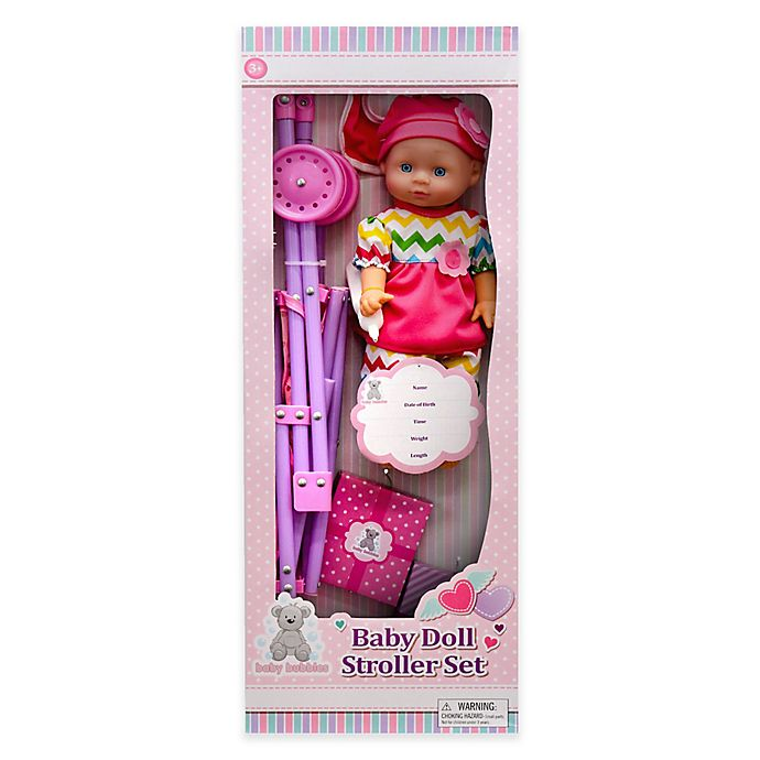 Alternate image 1 for Kid Concepts Baby Doll with Stroller Playset