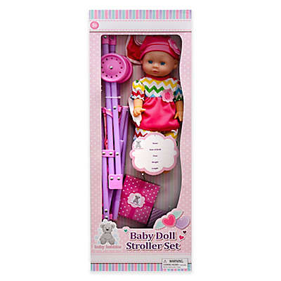 Kid Concepts Baby Doll with Stroller Playset