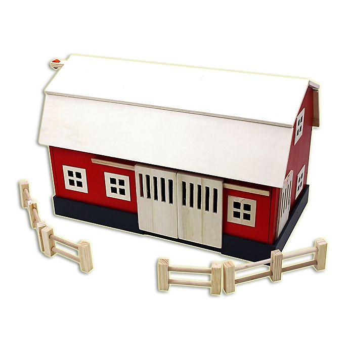 Alternate image 1 for Homeware Big Wooden Barn in Red