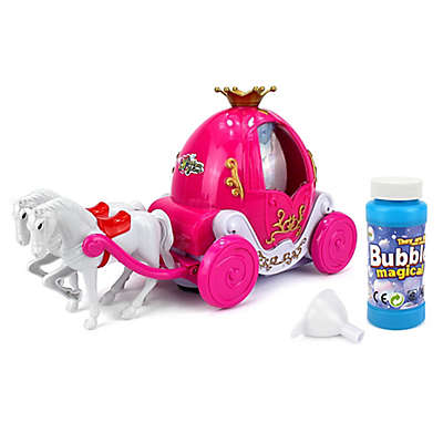Happiness Express Bubble Blowing Princess Carriage in Pink