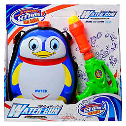 Happiness Express Penguin Water Blaster Backpack in Blue