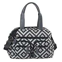 OiOi Aztec Print Carryall Diaper Bag in Grey
