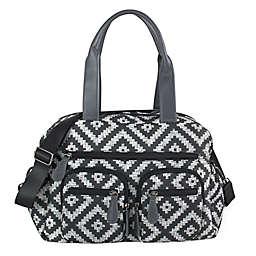 OiOi Aztec Print Carryall Diaper Bag in Grey