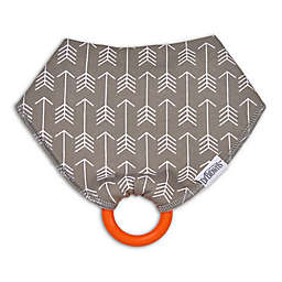 Dr. Brown's® Bandana Bib with Snap-On Teether in Grey Arrows