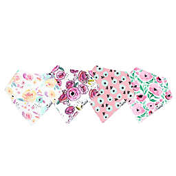 Copper Pearl™ Bloom 4-Pack Bandana Bibs