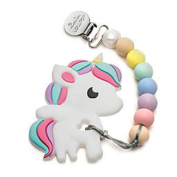 Loulou Lollipop Unicorn Teether with Clip
