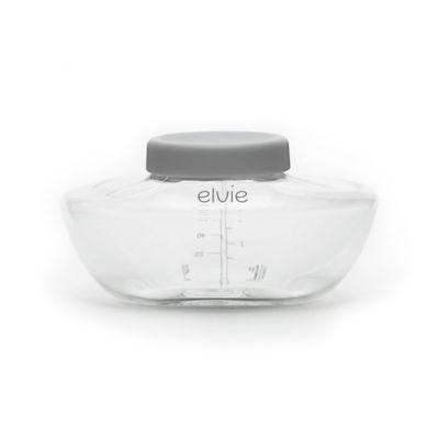 Elvie® 3-Pack 5 oz. Breast Pump Bottles in Clear/Grey