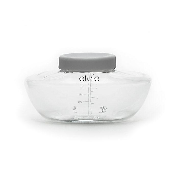 Alternate image 1 for Elvie® 3-Pack 5 oz. Breast Pump Bottles in Clear/Grey