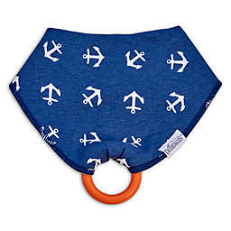 Dr. Brown's® Bandana Bib with Snap-On Teether in Blue Anchors