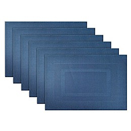 Design Imports Double Bordered Square Placemats (Set of 6)