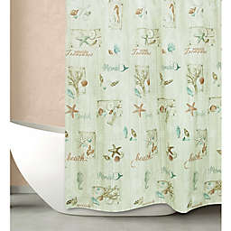 Bacova Ocean Treasures Shower Curtain in Beige/Coral