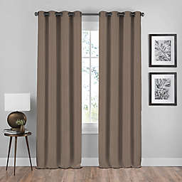 Shauna 95-Inch Grommet Window Curtain Panel in Mocha