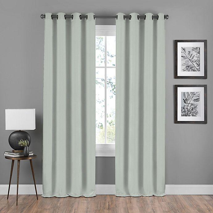 Alternate image 1 for Shauna 84-Inch Grommet Window Curtain Panel in Mist