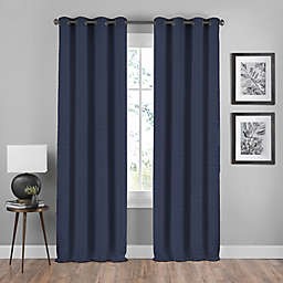 Shauna 63-Inch Grommet Window Curtain Panel in Black