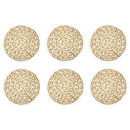 Design Imports Woven Round Placemats (Set of 6)