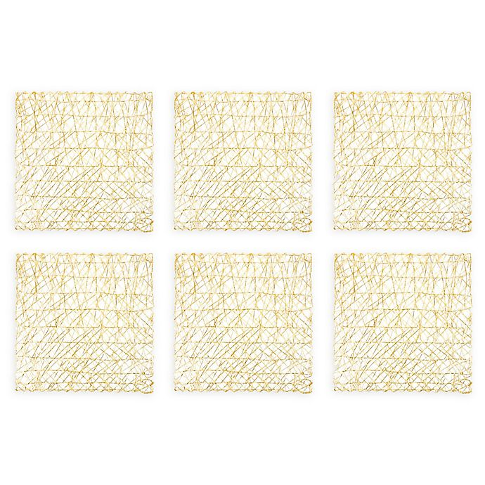 Alternate image 1 for Design Imports Woven Square Placemats (Set of 6)