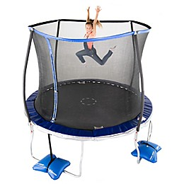 TruJump 10-Foot Trampoline with Steel Flex Enclosure in Blue