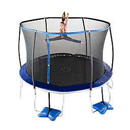 TruJump 12-Foot Trampoline with Enclosure and Spin-n-Light