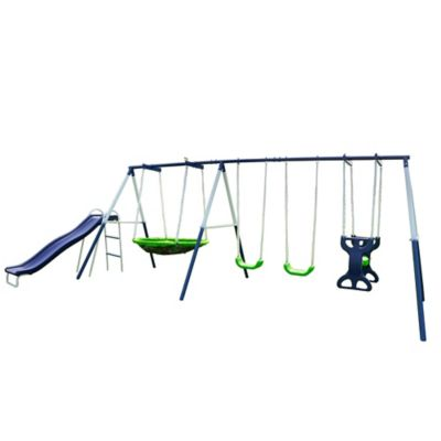 Sportspower Rosemead Metal Swing and Slide Set | Bed Bath ...