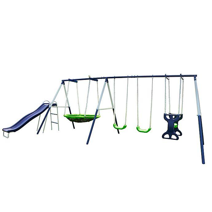 Alternate image 1 for Sportspower Rosemead Metal Swing and Slide Set