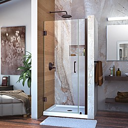 DreamLine Unidoor 29-30-Inch Frameless Hinged Shower Door with Clear Glass