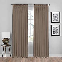 Shauna Pinch Pleat Back Tab Room Darkening Window Curtain Panel