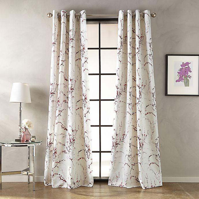 Botanical Print Grommet Window Curtain Panel