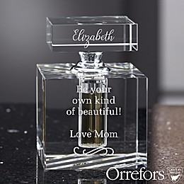Orrefors Engraved Message Perfume Bottle